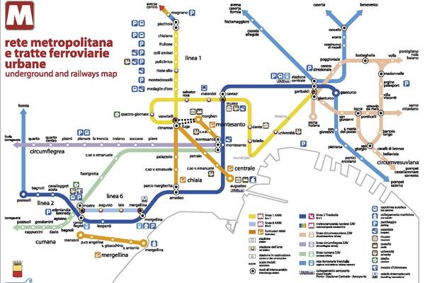 Napoli Subway Map.Naples Metropolitan Transportation Network Napoli Apartments
